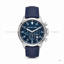 MICHAEL KORS MK8617 Men's Gage Chronograph Leather Strap Blue