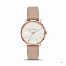 MICHAEL KORS MK2748 Women's Pyper 3-hand Glitz Leather Strap Rose Gold