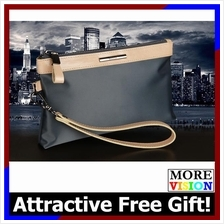 [Free Gift!] Pabojoe Premium Cowhide Leather Royal Handy Pouch Bag 016