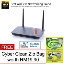 ASUS DSL-N12E ADSL2+ Modem 300Mbps Wireless-N Router +FREE Cyber Clean