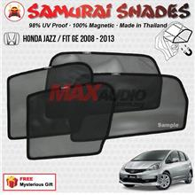 HONDA JAZZ 2008 - 2013 (4pcs) SAMURAI SHADES 100% Magnetic Sun Shades
