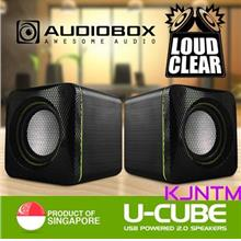 AudioBox U-Cube 2.0 USB Powered Speakers Lound & Clear volume control
