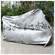 ELECTRIC MOTORCYCLE COVER WATERPROOF BIKE BICYCLE PROTECTOR (SILVER)