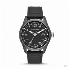 SKECHERS Watch SR5075 Men's Date Display Silicone Strap Black