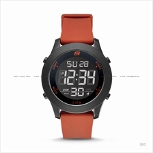 SKECHERS Watch SR5109 Men's Digital Negative Silicone Strap Red