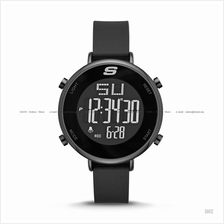 SKECHERS Watch SR6065 Women's Digital Negative Slim Silicone Black