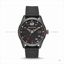 SKECHERS Watch SR5076 Men's Date Display Silicone Strap Black