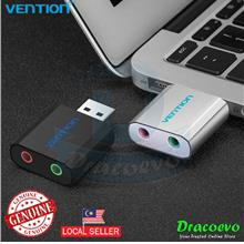 Vention Mini USB Sound Card External To 3.5mm Headphone Adapter Audio