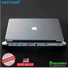 Vention All In 1 USB Type C To HDMI VGA Converter USB 3.0 Hub SD/TF
