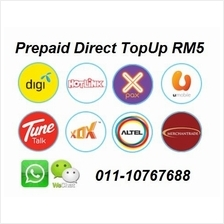digi umobile hotlink celcom tunetalk xox prepaid reload top up RM30