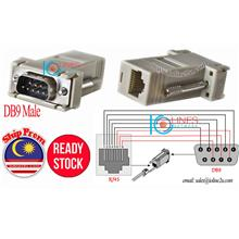 DB9 Male to RJ45 8PIN LAN UTP Cable Cat5e Cat6 extension adapter DIY Serial