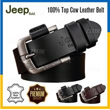 JEEP 100% Top Cow Buckle Genuine Leather Belt With Pin Buckle Strap