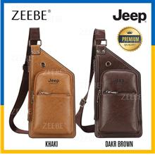 JEEP BULUO High Quality PU Leather Chest Bag Men's Sling Shoulder Bags
