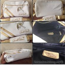 **incendeo** - Authentic ARN0LD PALMER White and Gold Bag
