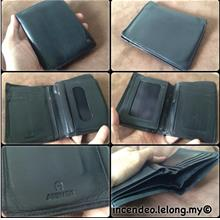 **incendeo** - Authentic E  A I G N E R Black Genuine Leather Wallet