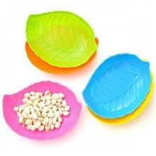 Korean Creative~Multicolor Leaf-shaped Plastic Tray