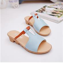 Korea Style Fashion Wedges Sandals (Light Blue)