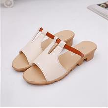 Korea Style Fashion Wedges Sandals (Cream)