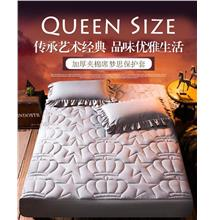 (Ready) Hot Sale Thick Quilted Bedsheet Set Cadar Viral (Queen Size)