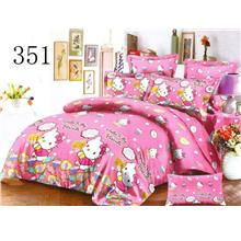 QUEEN SIZE FITTED BEDDING SET / 3PCS / KITTY Queen