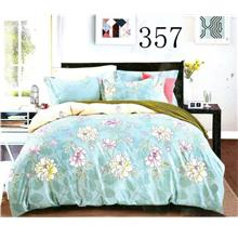 QUEEN SIZE FITTED BEDDING SET / 3PCS / SEA BLUE Queen