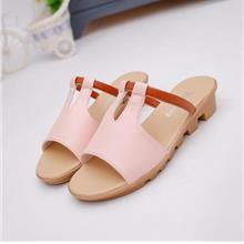 [EH2038-18678PK] Korea Style Fashion Wedges Sandals (Pink)