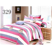 QUEEN SIZE FITTED BEDDING SET / 3PCS / STRIPE Queen
