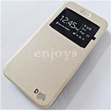 Premium GOLD S View Flip Cover Soft Case for ZTE Blade A310 ~5.0'