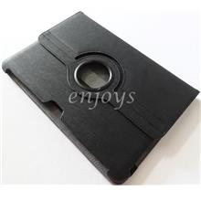 Rotate Carbon Leather Pouch Samsung Galaxy Tab 2 10.1 P5100 P7500 ~BLK