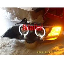 SONAR BMW Z3 E40 '96-02 Projector Head Lamp LED Ring Black Housing