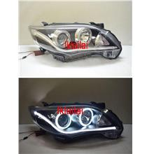 TOYOTA ALTIS '10-12 Projector Head Lamp CCFL Ring+ DRL