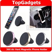 Magnetic 360 Rotary Car Air Vent Phone Holder GPS Magnet Stand