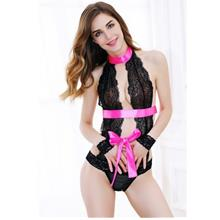 **CELLY**   Imported Sexy Sheer Lace Teddy with Bow Detail