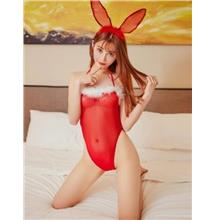 CELLY WOMEN  Red Mesh Cute Rabit Teddy Costume (CSOH L8460-2)