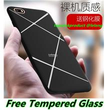OPPO A77 A57 F1S R9S R7 Lite F1 Plus TPU Case Cover Casing + Glass SP