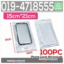 Clear White Plastic Bag Zip Lock Pouch Packaging 15*21cm Plastik