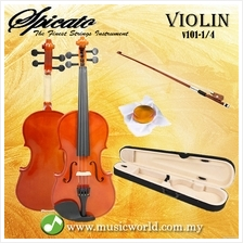 Spicato Italy Violin V101 Quarter Size 1/4 Violin With Carry Bag Bow R