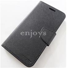 MERCURY Fancy Diary Book Case Flip Cover Oppo F1s (5.5) ~BLACK *XPD