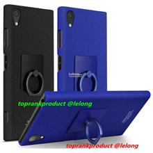 Imak Sony Xperia XA1 Plus Matte Hard Back Case Cover Casing +Ring Hold