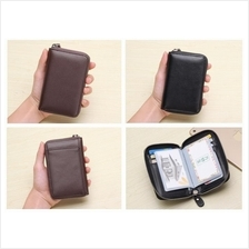 Unisex Men Women Simple Leather Cardholder Card Organizer Wallet Purse