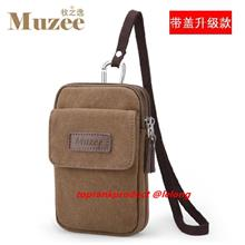 Muzee 5.5' Waist Pouch Multi-functional Leisure Canvas Pocket Purse