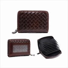 Unisex Unique Pattern Leather Card Holder Organizer Wallet (Brown)