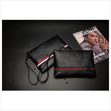 Men PU Leather Slim Clutch Bag