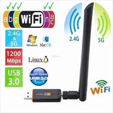 AC1200Mbps/300Mbps Wireless Dual Band 2.4GHz/5.8GHz USB Dongle