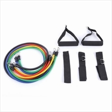 LEAJOY 11PCS / SET NATURAL RUBBER FITNESS RESISTANCE BANDS PRACTICAL ELASTIC T