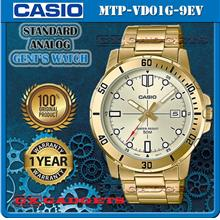 CASIO MTP-VD01G-9EV STANDARD Analog Mens Watch Date S.Steel Band WR50m