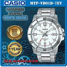 CASIO MTP-VD01D-7EV STANDARD Analog Mens Watch Date S.Steel Band WR50m