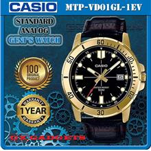 CASIO MTP-VD01GL-1EV STANDARD Analog Mens Watch Date Leather Band WR50