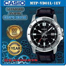CASIO MTP-VD01L-1EV STANDARD Analog Mens Watch Date Leather Band WR50m