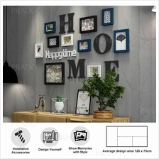 Premium Wooden Wall 10 Photo Frame Decor for House Office Airbnb 2203